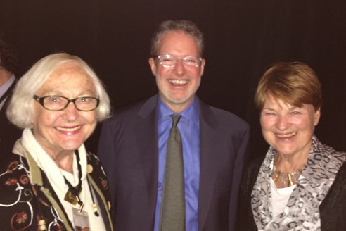 Jan, Mark, and Moira at 7th Positive Aging Conference in Sarasota Florida