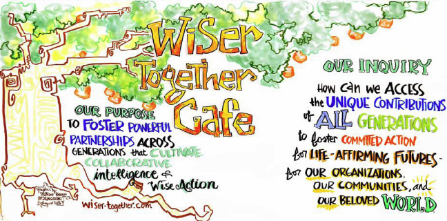 Wiser Together Cafe - Art by Stephanie Brown